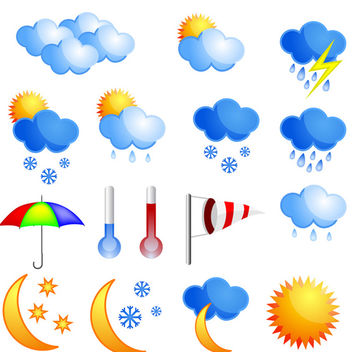 Weather Icons - vector gratuit #340139