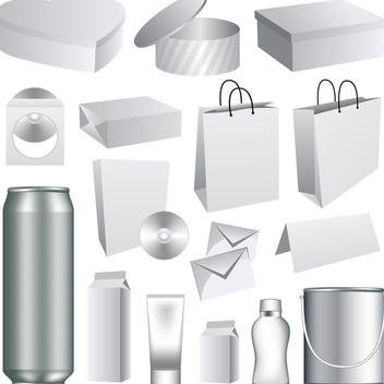 Vector Packaging Templates - vector gratuit #340189