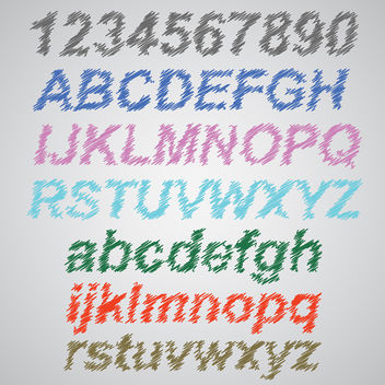 Scribble Font - Free vector #340319