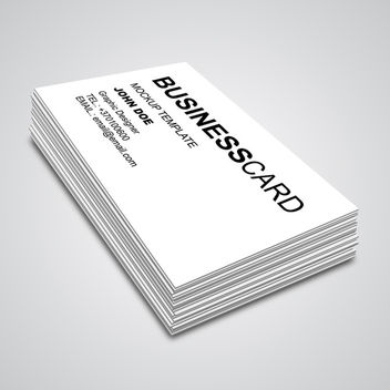 Business Card Mockup - vector gratuit #340379