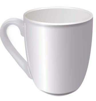 White Realistic Cup - бесплатный vector #340399