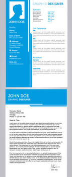 Resume & CV Templates - vector gratuit #340409