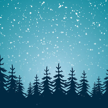 Winter Background with Trees - vector gratuit #340419