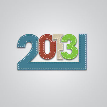 New 2013 Year Numbers - vector gratuit #340439