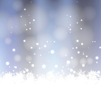 Vector Winter Background - Free vector #340489