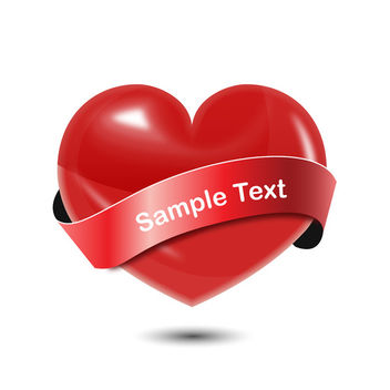Red Vector Heart - vector gratuit #340509