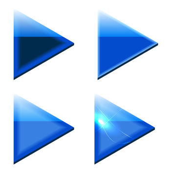 Blue Triangle Arrows - vector gratuit #340559