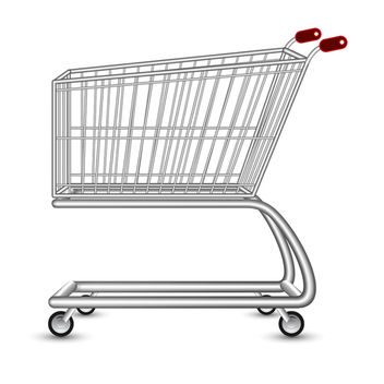 Vector Shopping Cart - vector #340629 gratis