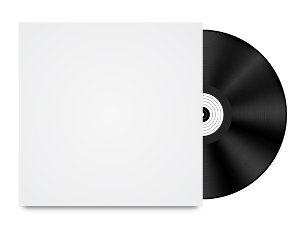 Vinyl Record Template - Free vector #340649