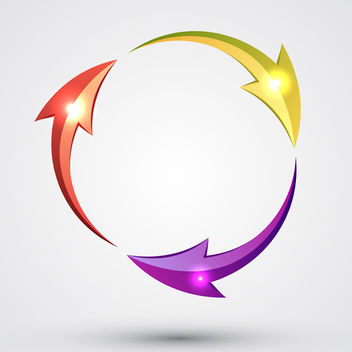 Shiny Arrow Circle - vector gratuit #340689