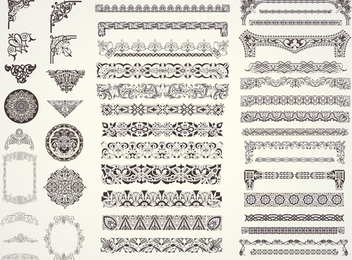 Decorative Vector Ornaments - бесплатный vector #340749