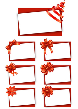 Greeting Cards with Bows - vector gratuit #340759