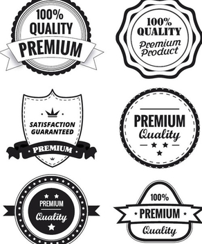 Premium Quality Labels - vector #340849 gratis