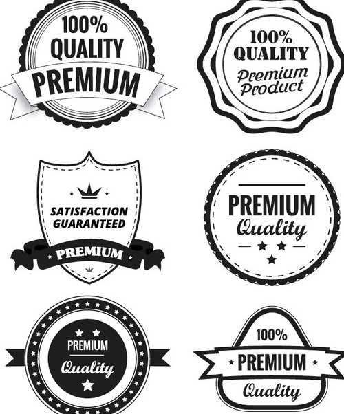 Premium Quality Labels - vector gratuit #340849
