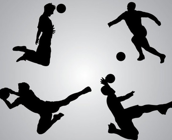 Goal KeeperSilhouettes - бесплатный vector #340949