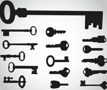 Key Silhouettes - Kostenloses vector #340989