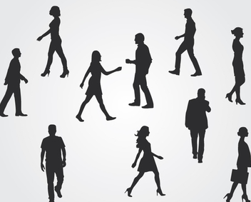 Corporate People Silhouettes - vector gratuit #341009