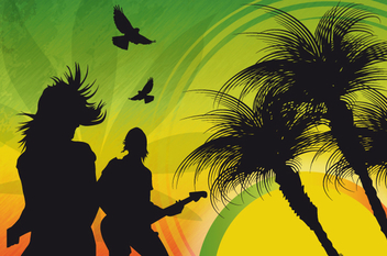 Reggae Music Background - Free vector #341029