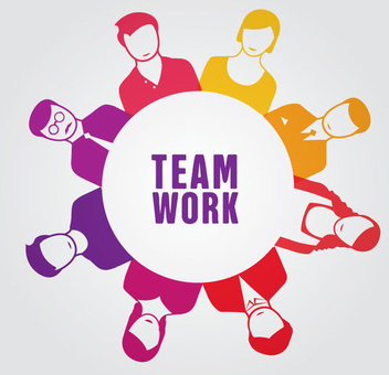 Teamwork People Circle - Free vector #341069