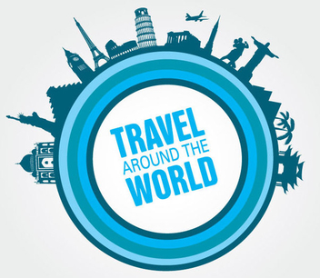 Travel Monuments Circle - Free vector #341079