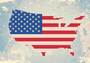 Ripped USA Flag - vector #341089 gratis