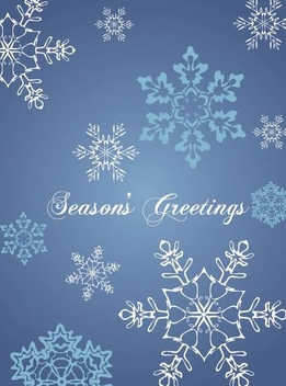 Retro Seasonal Greeting Card - Free vector #341249
