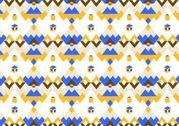 Blue and Yellow Abstract Pattern Vector - Free vector #341349