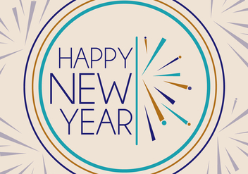 Free New Years Vector - Kostenloses vector #341359