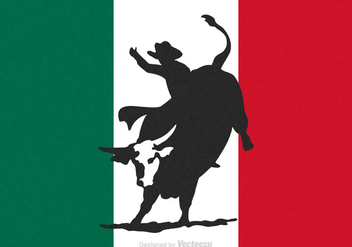Free Rodeo Bull Rider Vector - Free vector #341379