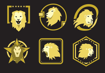 Lion Head Emblems - Free vector #341389