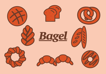 Bagel and Bread Vectors - vector gratuit #341399