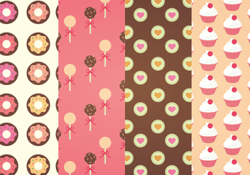 Sweets Vector Patterns - Free vector #341409