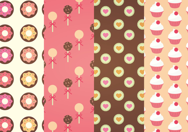 Sweets Vector Patterns Free Vector Download 341409 | CannyPic