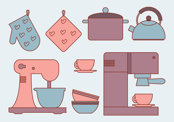 Vector Kitchen Elements - vector gratuit #341559