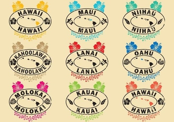 Hawaiian Stamps - vector gratuit #341609