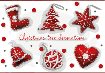 Free Christmas Decorations Vector - бесплатный vector #341649