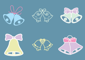Free Wedding Bells Vector Illustration - Kostenloses vector #341679