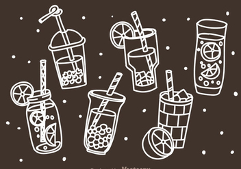 Beverages Doddle Icons - vector gratuit #341729