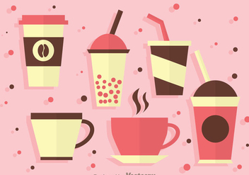 Hot And Cold Beverages Icons - Free vector #341769