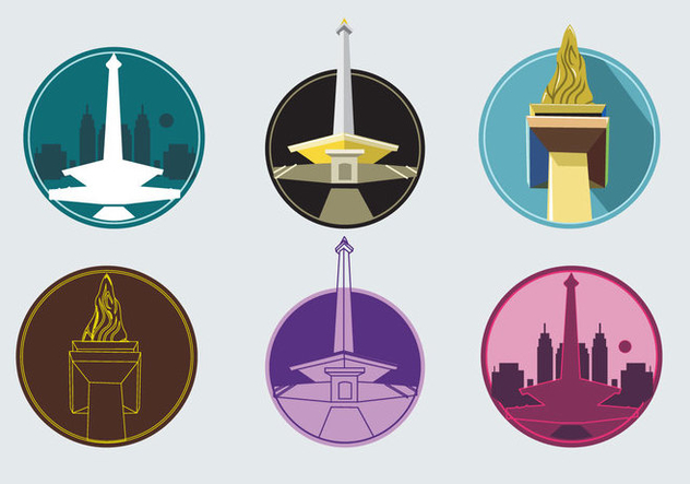 Monas Tower Icons - бесплатный vector #341779