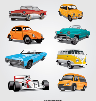datailed car collection - vector gratuit #341829