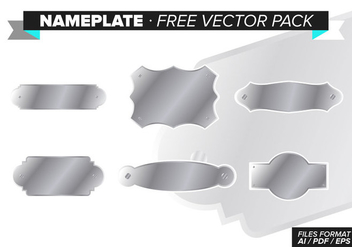 Nameplate Free Vector Pack - vector gratuit #341959