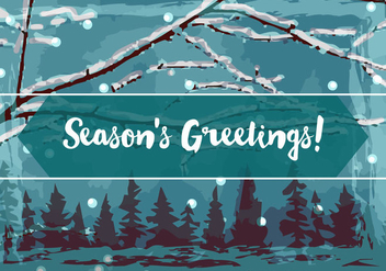Free Season Greetings Vector Background - vector gratuit #342199