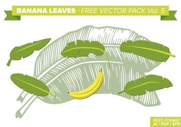 Banana Leaves Free Vector Pack Vol. 5 - Free vector #342209