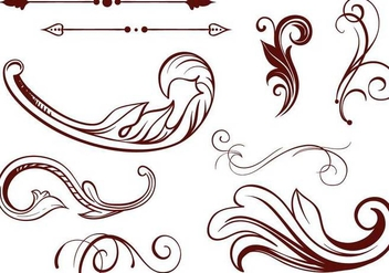 Free Scrollwork Vectors - Free vector #342219