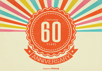 60 Year Anniversay Illustration - бесплатный vector #342259
