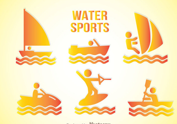 Water Sport Gradation Icons - vector gratuit #342309