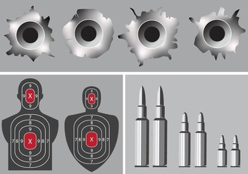 shoot camp and bullet hole - vector gratuit #342359