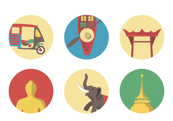 Vector Bangkok Icon Set - бесплатный vector #342379