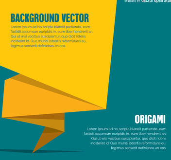 Origami banner or cover - vector gratuit #342419